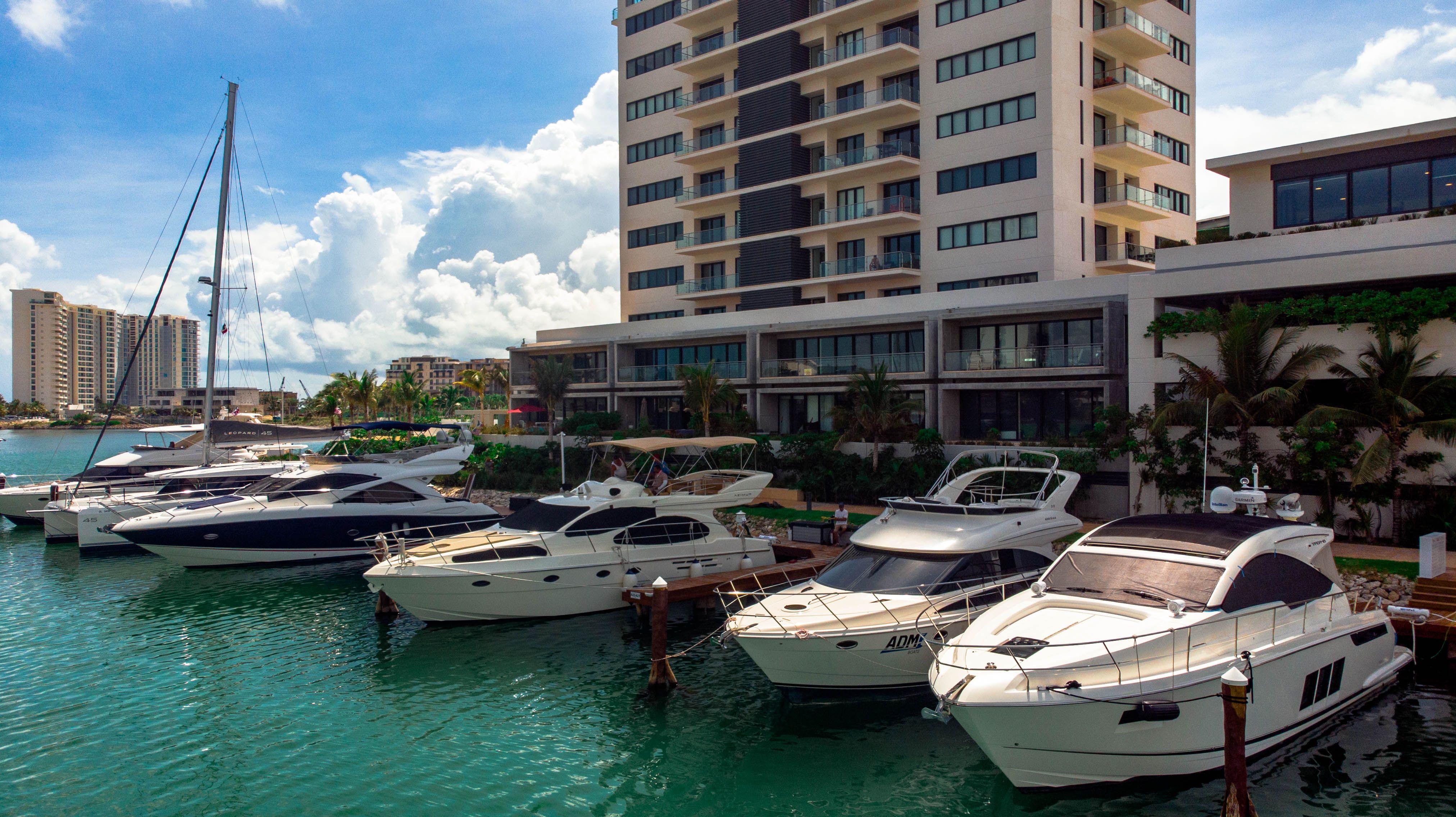 La marina VIP de Cancún.
