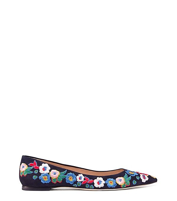 ff977935dc687b TORY BURCH Rosemont Embroidered Ballet Flat.  toryburch  shoes   Pointed  Toe Flats