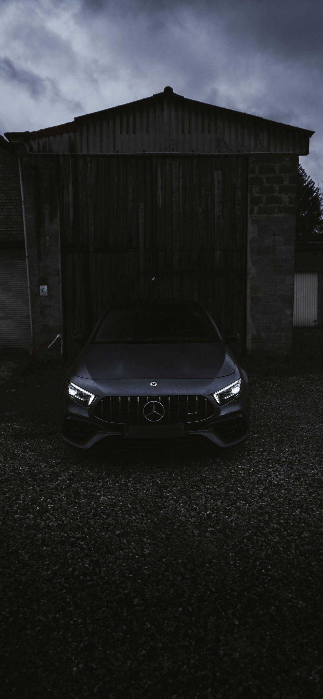 1125x2436 Black Car Mercedes Benz Wallpaper In 2020 Mercedes Benz Wallpaper Car Black Car