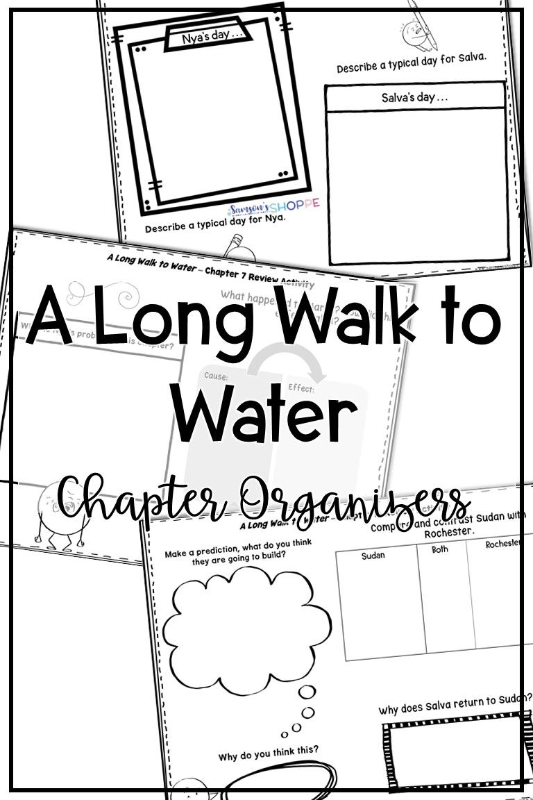 A Long Walk to Water Chapter Organizers to Support Your