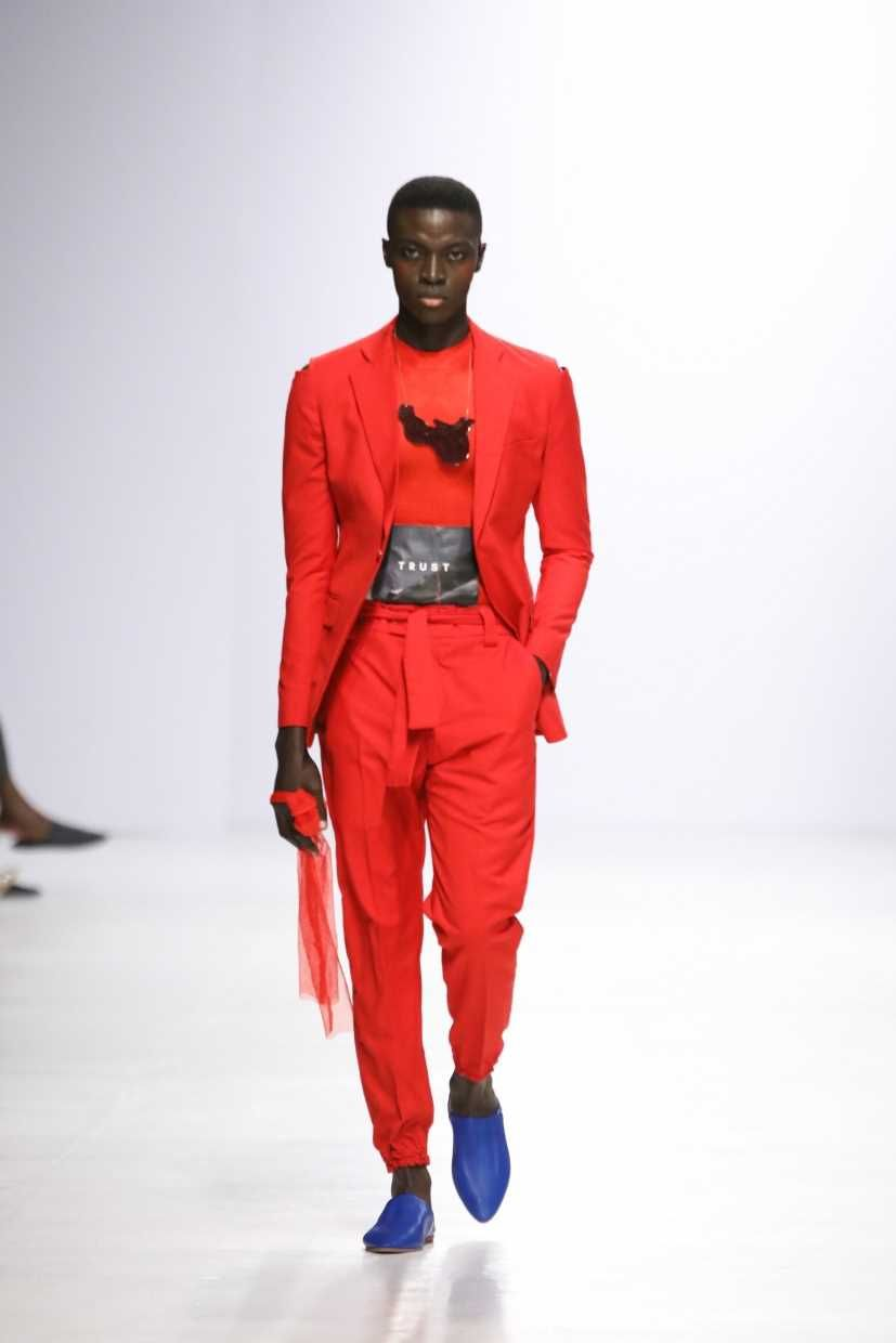 Orange Culture Runway Show Lagos Fashion Week African Men Fashion Fashion Fashion Week