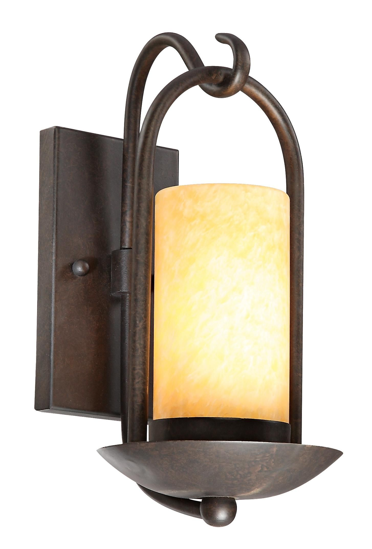 Onyx Stone Faux Candle 15 High Espresso Wall Light - $80 | Ideas ...