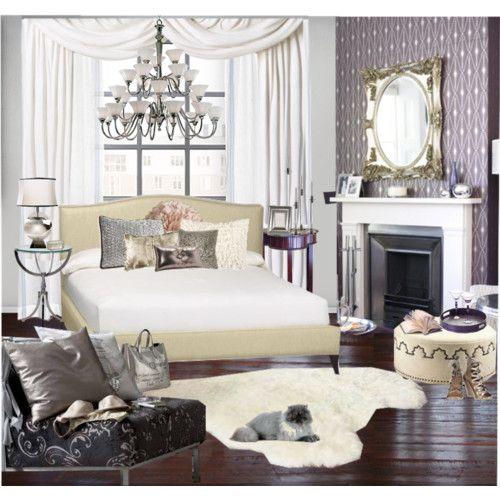 Hollywood Glam Bedroom...Fireplace In The Bedroom, Love!