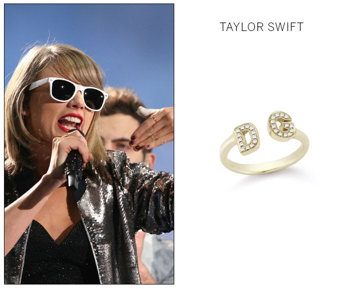 Taylor Swift Diamond Initials Ring