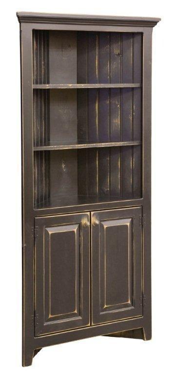 Unique Short Corner Curio Cabinet