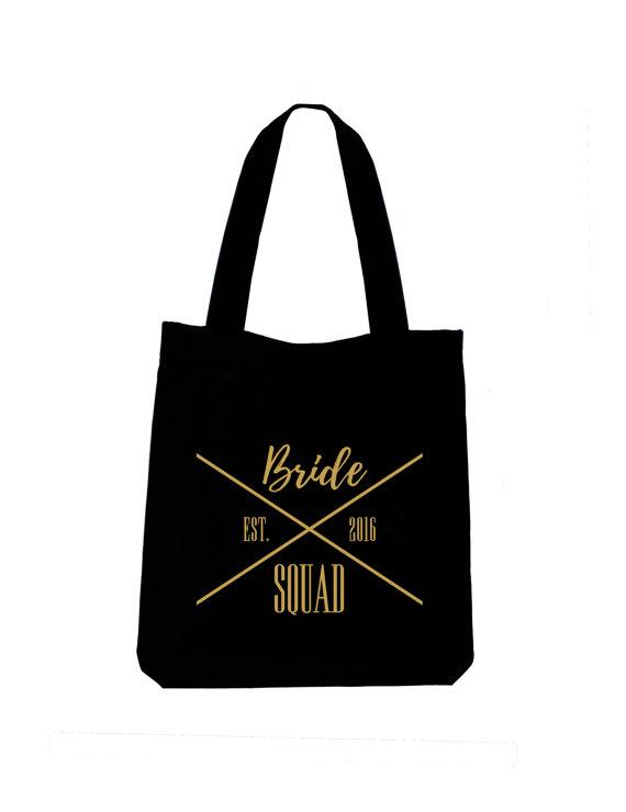 99cb982cd5e5 Bride Squad tote bag, Ladies cotton canvas wedding tote bag ...