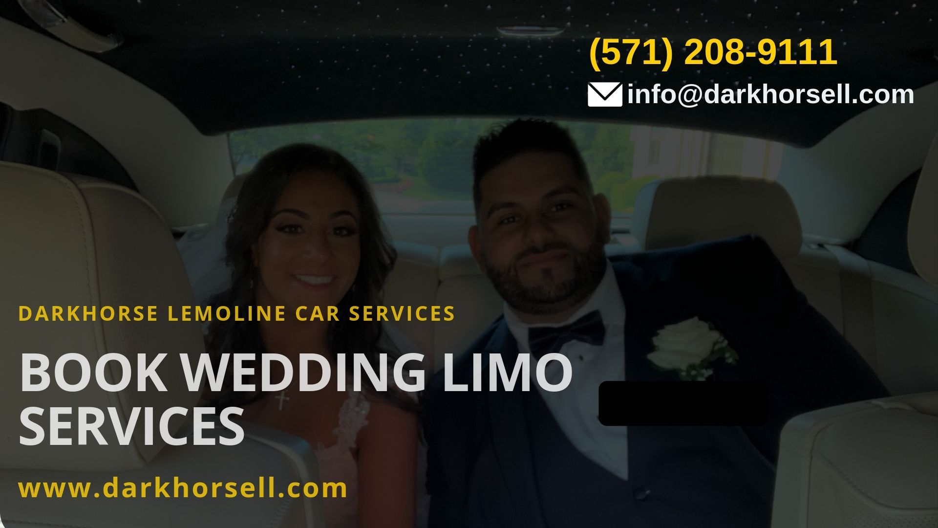 Limousine cars for the wedding out of our huge selection
