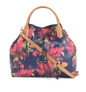 Cavalcanti Women S Italian Fl Print Leather Bucket Handbag Free Shipping Nwt