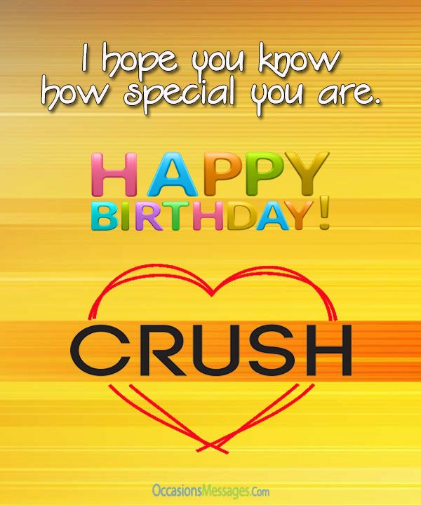 Happy birthday wishes to crush