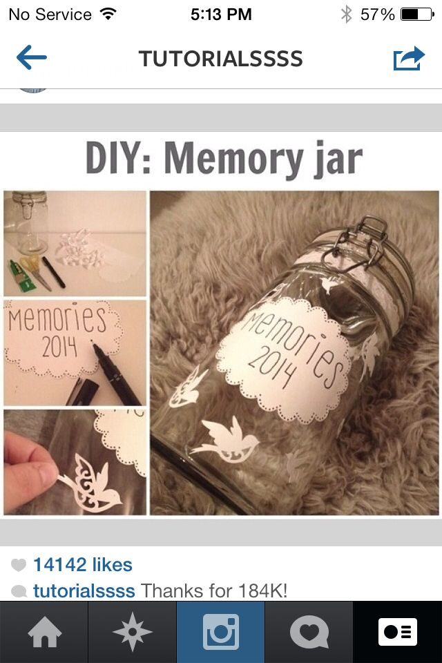 The perfect jar for storing memories
