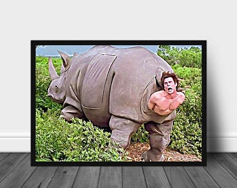 The rhino scene in Ace Ventura Poster No Frame Ace Ventura ...