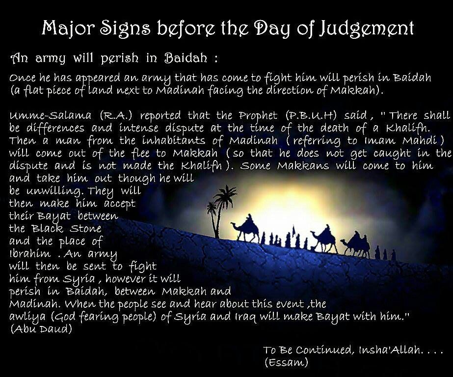 Major Signs Before The Day Of Judgement The Army Will Perish In