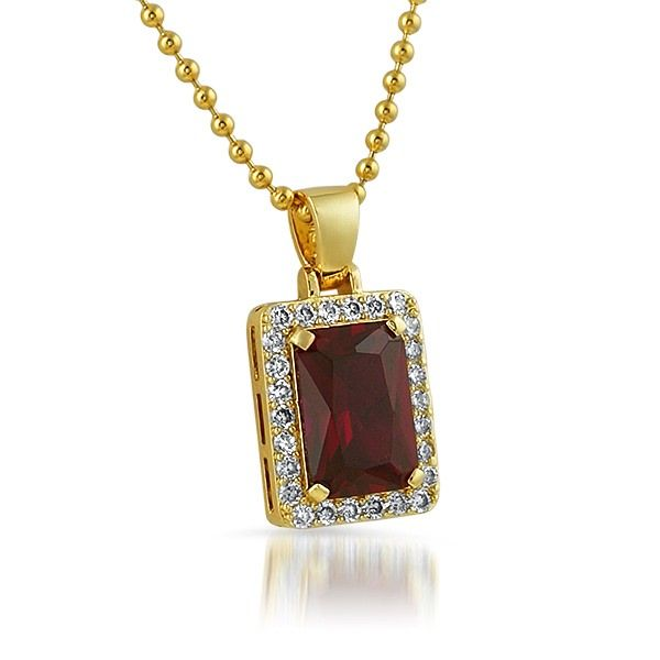 Lab ruby rick ross style block gold hip hop pendant hiphopbling lab ruby rick ross style block gold hip hop pendant mozeypictures Image collections