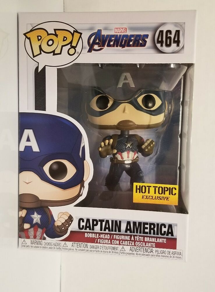 Avengers Captain America HotTopic Exclusive with Pop Protector Funko POP