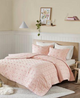 Urban Habitat Brooklyn King California King Cotton Jacquard 3 Piece Coverlet Set Bedding Bedding Sets Cotton Bedding Sets Home Textile