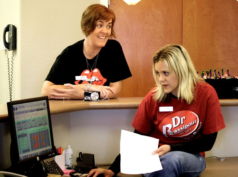 The orthodontics staff detailed front desk procedures for