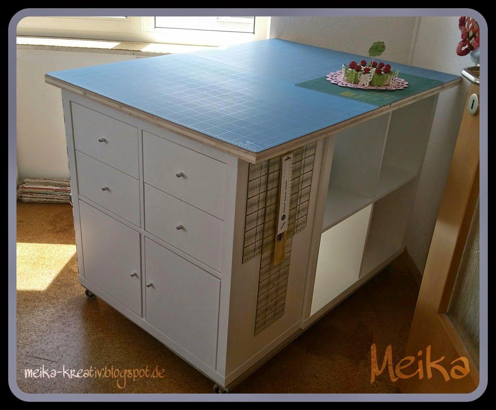Meika kreativ Selbst gebauter Zuschneidetisch endlich fertig DIY Ikea Hack