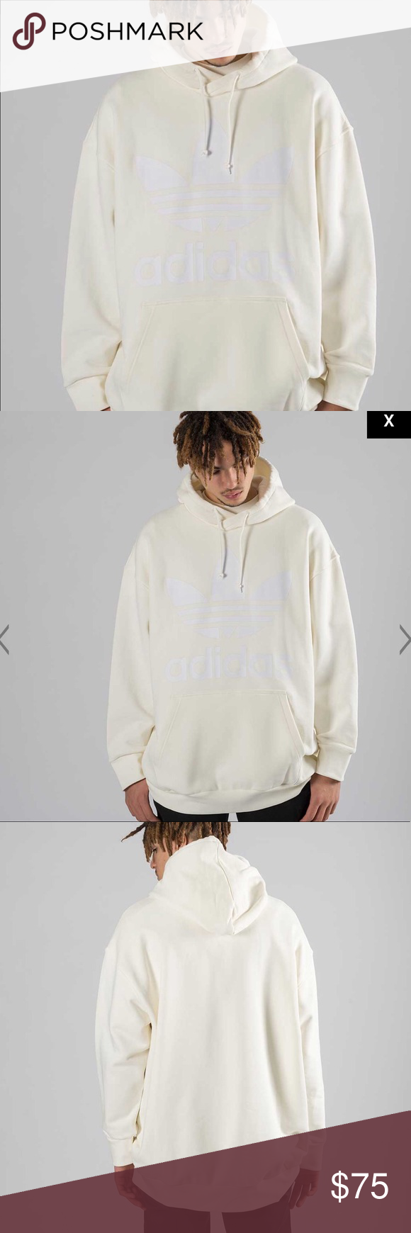 Oversized Adidas Adc Hoodie Cream Colored Sweater Clothes Design Fashion [ 1740 x 580 Pixel ]