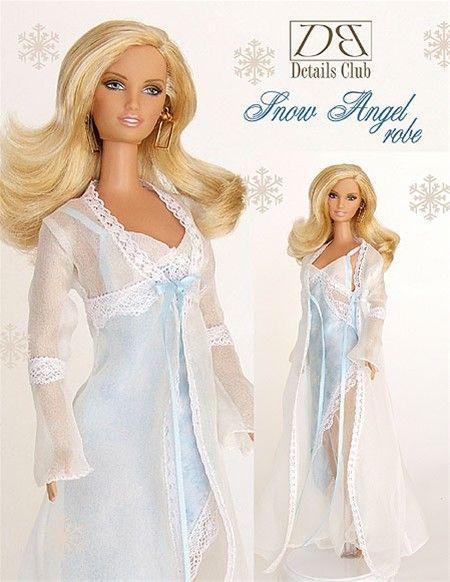 Snow Angel Robe | Fashion Dolls | Pinterest | Barbie, Garderoben und ...