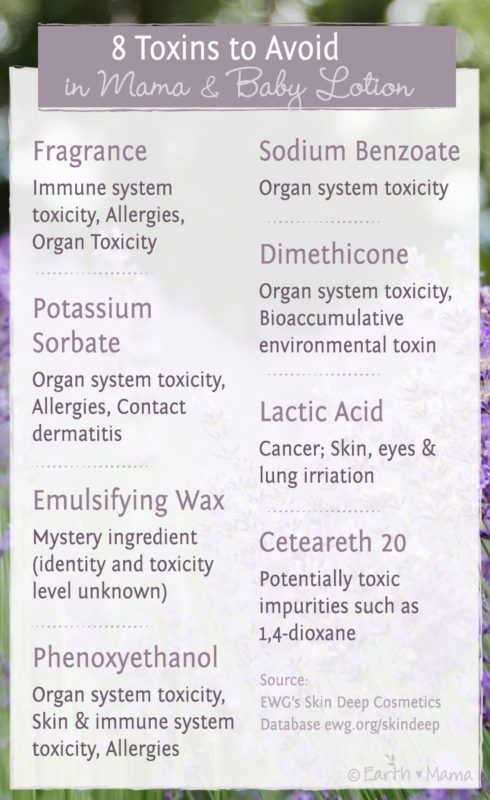 Top 8 Toxic Chemicals to Avoid in Mama and Baby Lotion