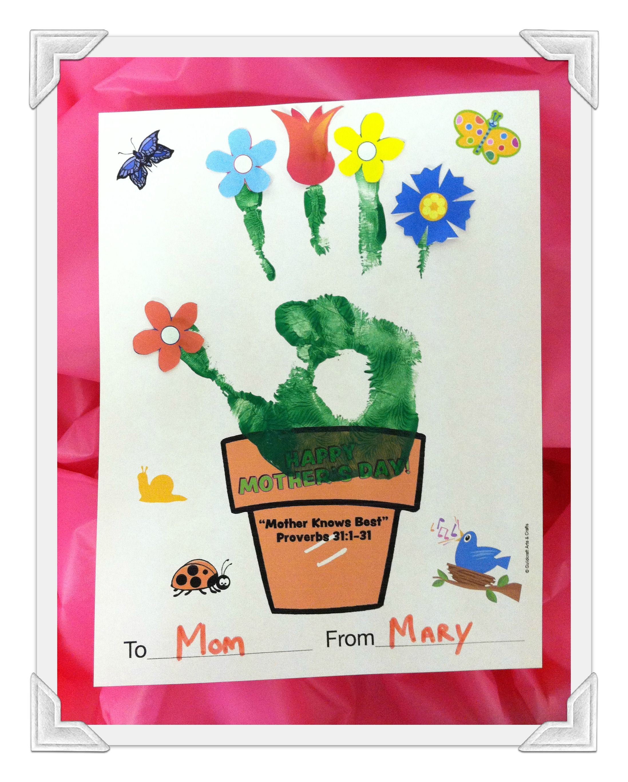 Mother Day Craft For Sunday School