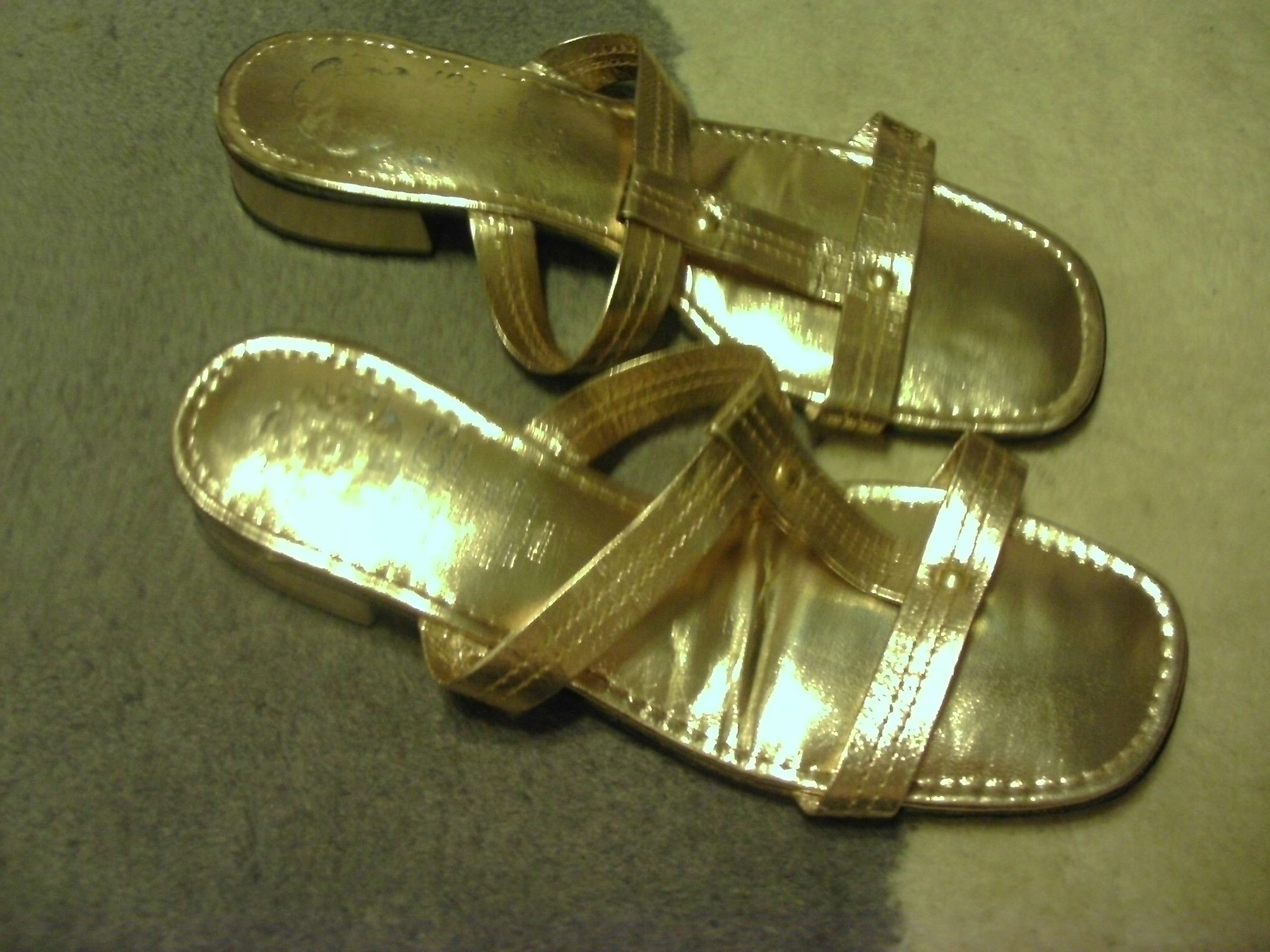 Gold Gladiator style sandals, <3