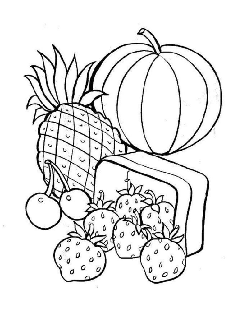 Food Coloring Pages Pdf Food Is The Main Need Of All Living Things There Are No Living Things E Food Coloring Pages Fruit Coloring Pages Cool Coloring Pages