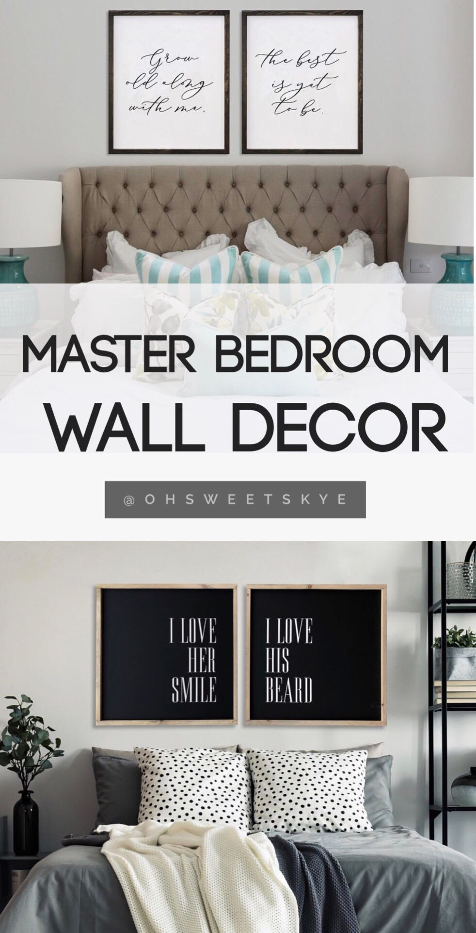 Master bedroom wall decor / master bedroom decoration ideas