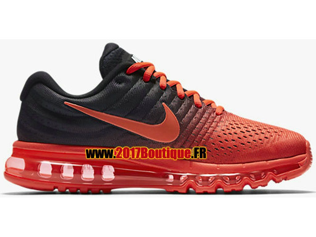 Nike Air Max 2017 Chaussures Nike Running Pas Cher Pour Homme Rouge / Noir  849559-