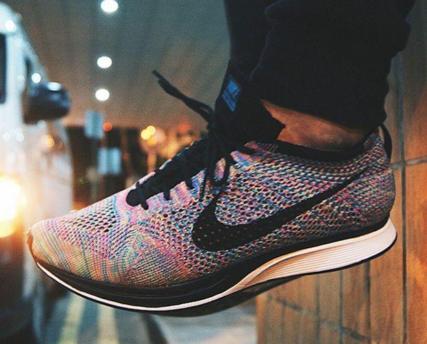 Nike Flyknit Multicolor Corredor 2015 Gris Comprar
