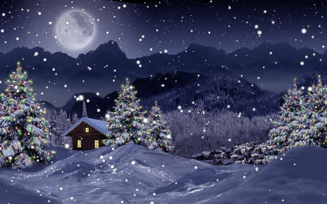 Free Snowfall Wallpapers Wallpaper Cave Christmas Live Wallpaper Christmas Landscape Winter Wallpaper