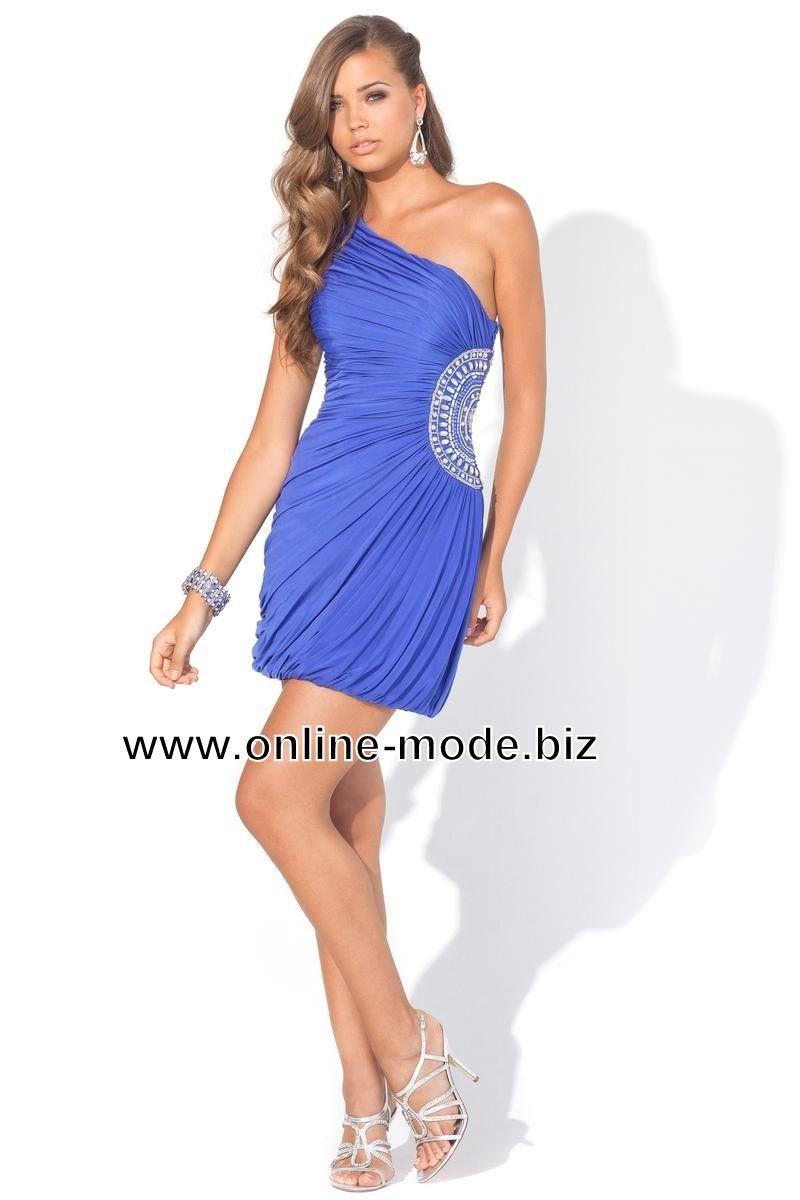 Kurzes Abendkleid in Dunkel Blau  Kurzes abendkleid, Kleider