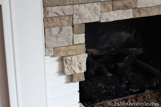 Airstone Fireplace Makeover On A Diy Budget Diy Stone Fireplace