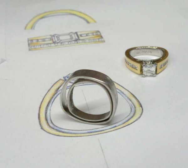 An anomaly that somtimes happens when making his and hers rings