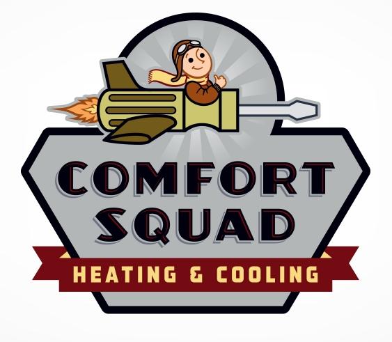 Retro Logo Design For Comfort Squad A Houston Texas Hvac Company