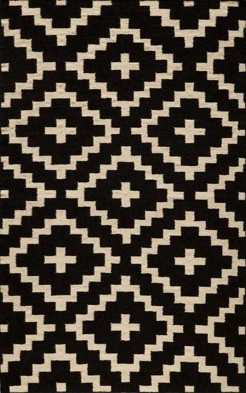 Hagler Hand Woven Black Wayfair 330 Wool Area Rugs Black Area Rugs Geometric Rug