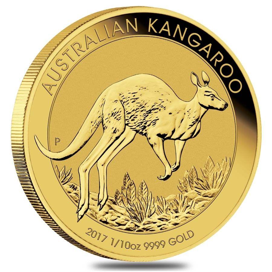 2017 1 10 Oz Australian Gold Kangaroo Perth Mint Coin 9999 Fine Bu In Capsule Gold Coins Gold Bullion Coins Australian Gold