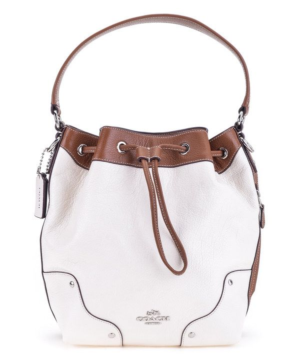 Look at this Chalk & Saddle Mickie Leather Drawstring Bag on #zulily today!