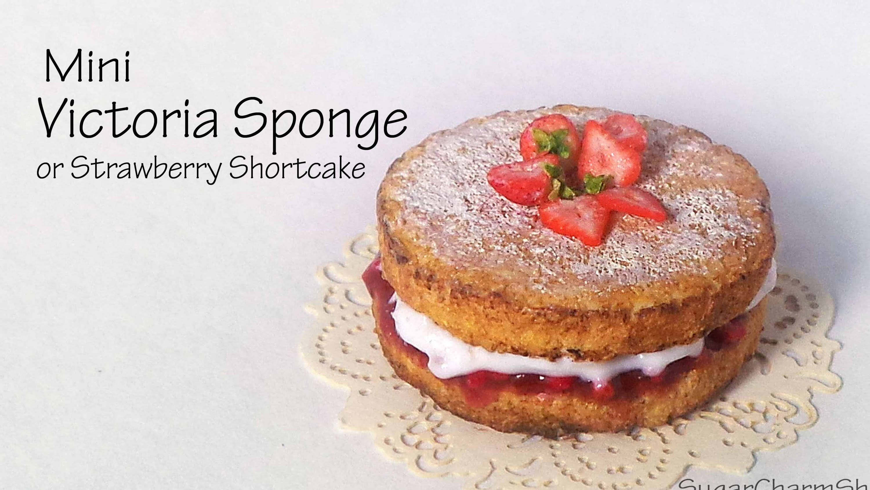Victoria Sponge / Strawberry Shortcake - Polymer Clay Tutorial