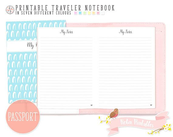Passport Dotted Line Note Traveler Notebook Refill Small Pocket - lined paper pdf