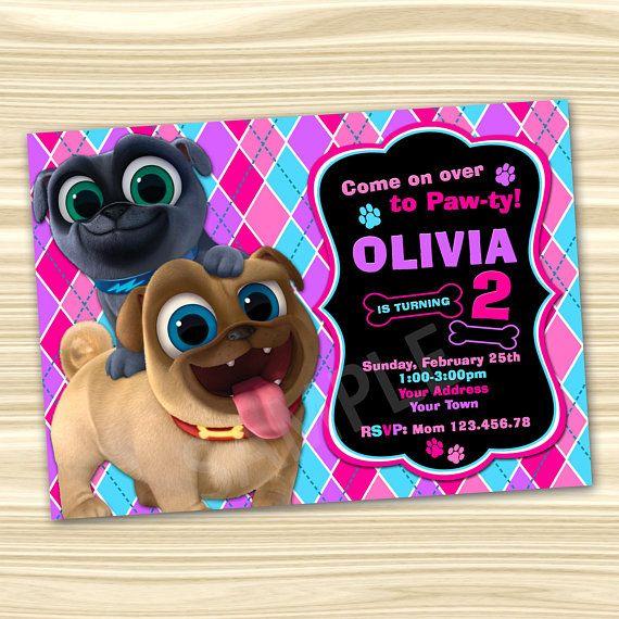 Puppy Dog Pals Invitation Puppy Dog Pals Party Invitation Diy