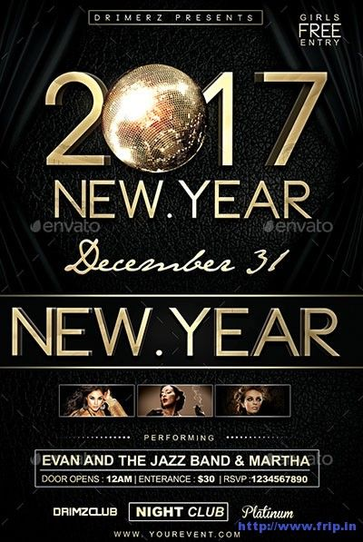 70 Best New Year Flyer Print Templates 2017 http\/\/wwwfripin - new year brochure template