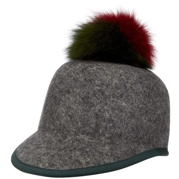 244ac085e Women's Helene Berman Genuine Fox Fur Pompom & Wool Cap ($165 ...