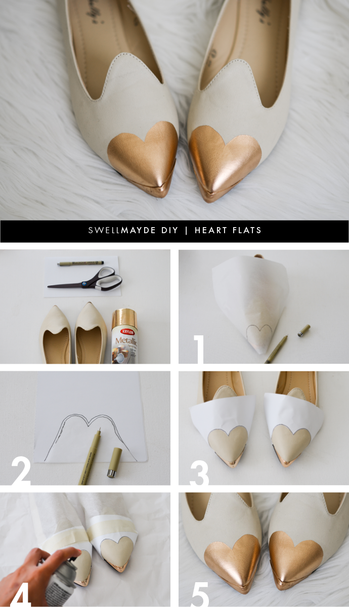 DIY Flats Makeover Using Lace And Paint advise