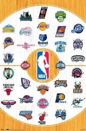 Basketball Nba Team National Basketball Association Logos Photo Poster In 2020 Nba Nba Teams Nba Basketball Teams