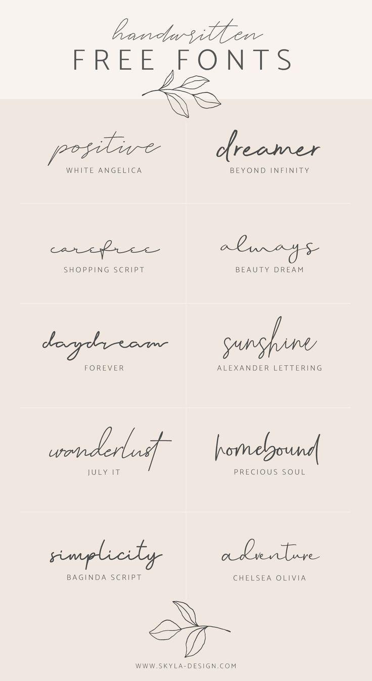 Handgeschreven gratis lettertypen | bericht door Skyla Design #fon ... - #design #fon #fonts ...