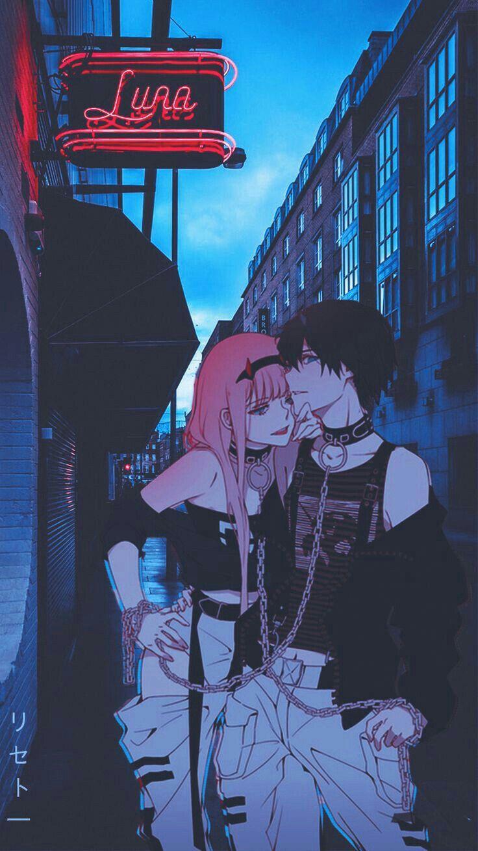 Pin De Sawii Uwu Em Darlin Ad The Franxx Anime Negra Anime De Romance Casais Bonitos De Anime