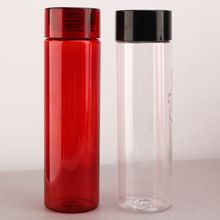 [Outdoor Sports] Outdoor wholesale 1L liter custom drinking design straight shape clear portable plastic water bottle