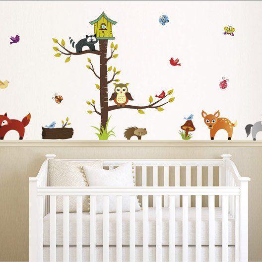 Sticker Forrest Animals 50 Cm X 70 Cm Met Afbeeldingen Kinderkamer Decoratie Kinderen