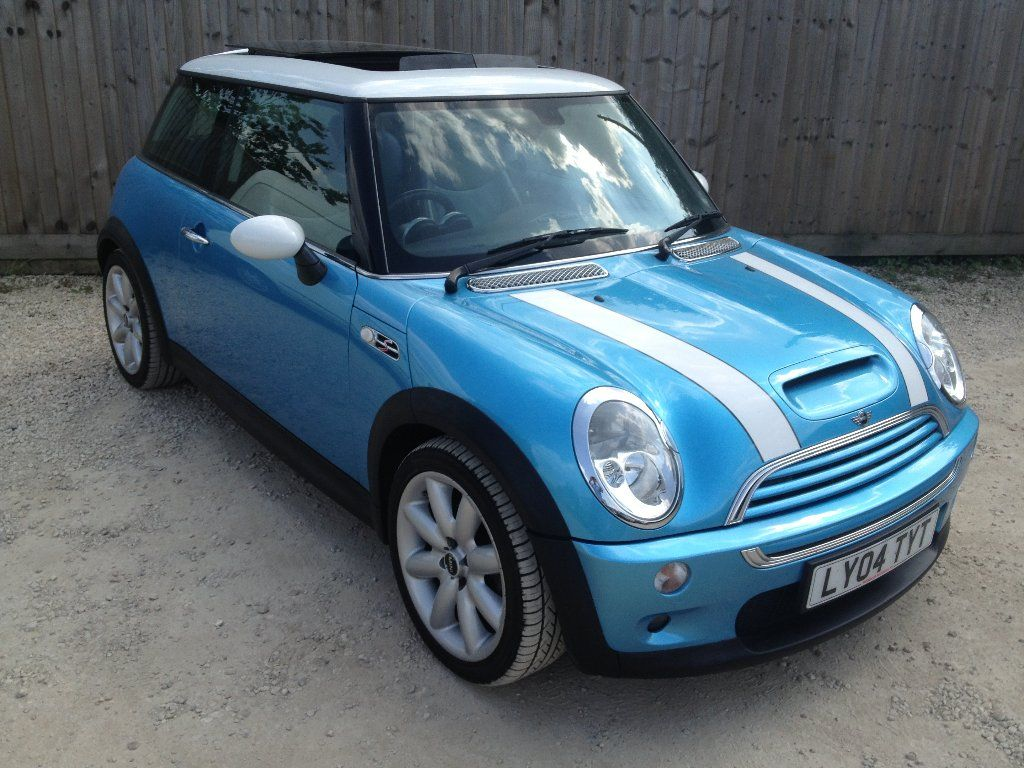 Mini Cooper Hardtop Electric Blue Metallic White Roof